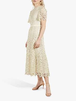 Ted Baker Aldorra Floral Lace Midi Dress, Cream