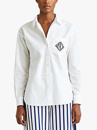 Lauren Ralph Lauren Brawley Long Sleeve Shirt, White