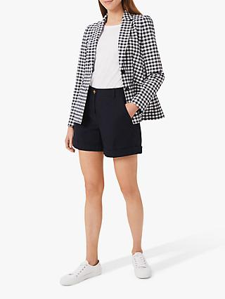 Hobbs Kelsie Check Blazer Jacket, Navy/White