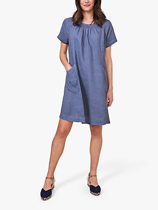 White Stuff Avery Linen T-Shirt Dress, Blue