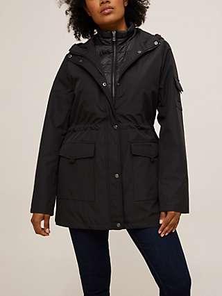 Lauren Ralph Lauren 2-In-1 Insulated Hooded Windbreaker Jacket, Black