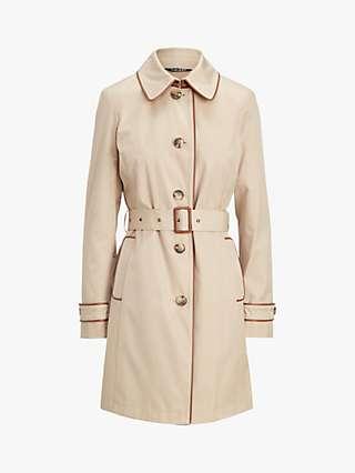 Lauren Ralph Lauren Lined Trench Buckle Coat, Beige