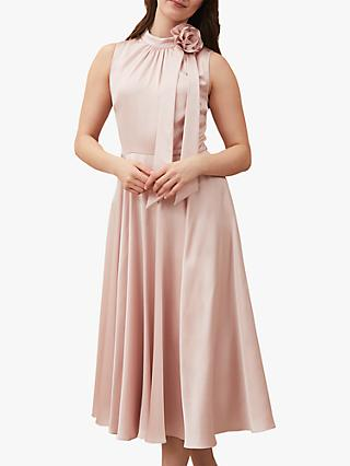 Phase Eight Elsie Corsage Dress, Shell Pink