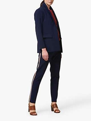 Helen McAlinden Jade Striped Blazer Jacket, Midnight