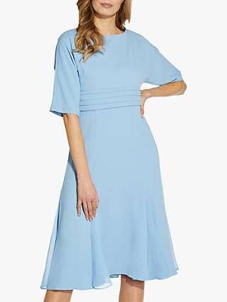 Adrianna Papell Dolman Crepe Midi Dress, Icy Topaz