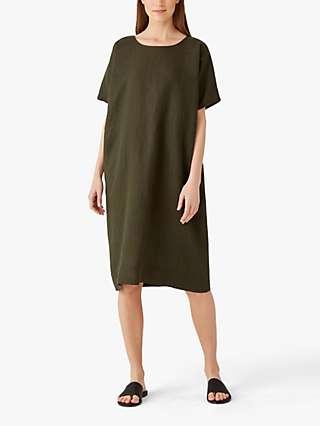 EILEEN FISHER Organic Linen Shift Dress, Seawood