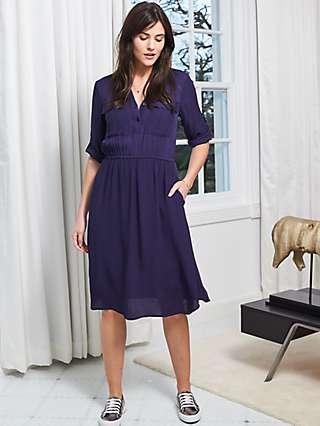 Sosandar Pocket Shirt Dress, Navy