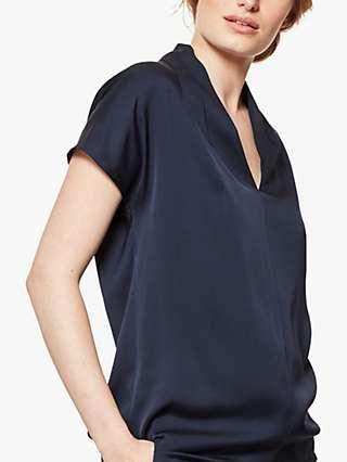 Winser London Silk V-Neck Blouse