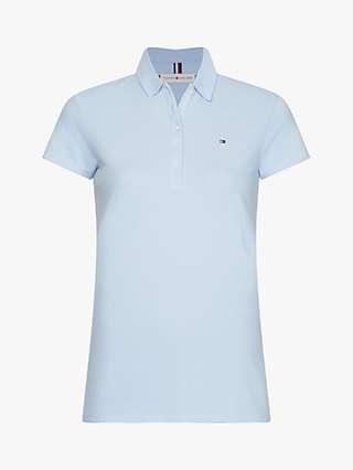 Tommy Hilfiger Short Sleeve Slim Polo Top, Breezy Blue