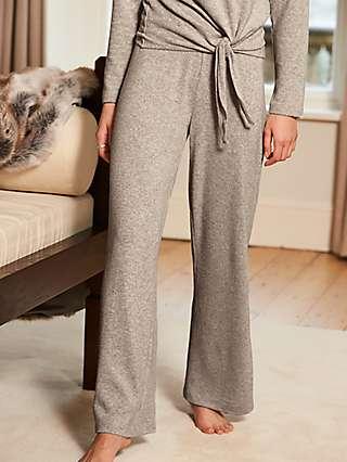 Sosandar Marl Wide Leg Loungewear Trousers, Oatmeal
