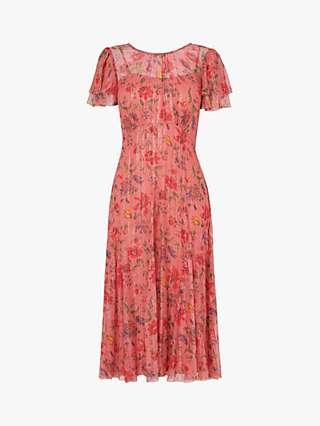 L.K.Bennett x Royal Ascot Monica Floral Print Dress, Pink/Multi