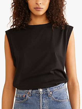 Albaray Organic Cotton Jersey Crew Neck Tank Top