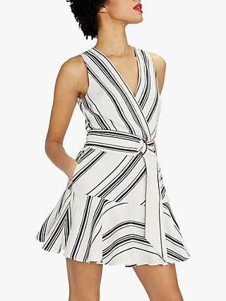 Ted Baker Aliicee Stripe Mini Dress, White