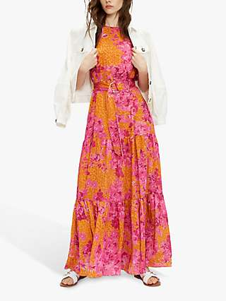 Ted Baker Bambia Floral Print Maxi Dress, Yellow