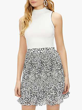Ted Baker Yondia Abstract Print Mini Dress, White