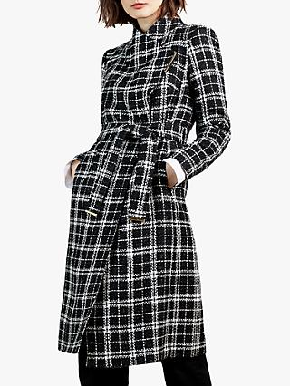 Ted Baker Kealla Bouclé Coat, Black/Multi