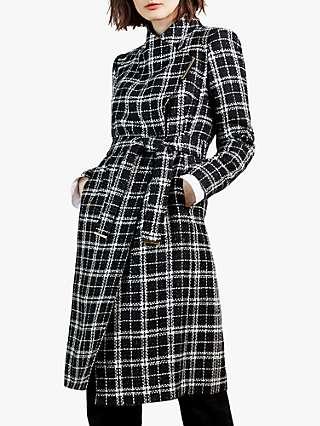 Ted Baker Kealla Bouclé Coat, Black/Multi