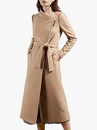 Ted Baker Rosell Belted Wool Blend Coat, Camel
