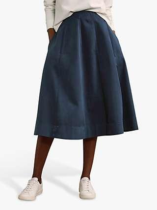 Baukjen Teigan A-Line Skirt, French Navy