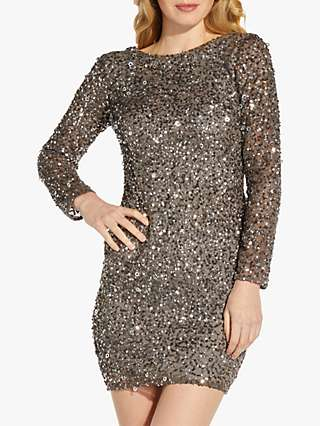 Adrianna Papell Sequin Cocktail Dress, Lead