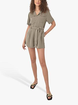 Ro&Zo Tencel Playsuit, Khaki