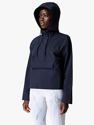 Sweaty Betty Air Flow Hooded Jacket, Navy Blue