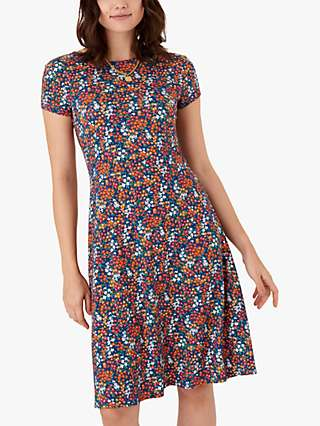 Brora Liberty Floral Print Jersey Dress, Marigold Sprig
