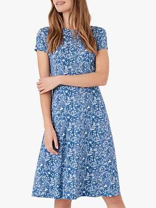 Brora Liberty Floral Print Jersey Dress, Chambray