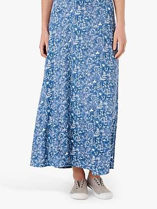 Brora Liberty Floral Print Maxi Skirt, Chambray