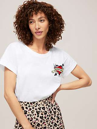 Somerset by Alice Temperley Tattoo Heart T-Shirt, White