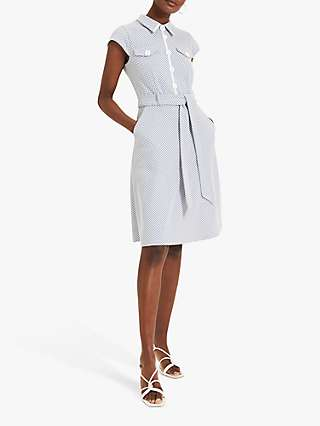 Damsel In A Dress Issie Check Print Dress, Pale Blue