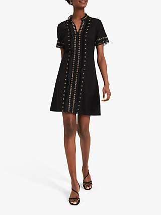 Damsel In A Dress Kara Eyelet Detail Mini Dress, Black