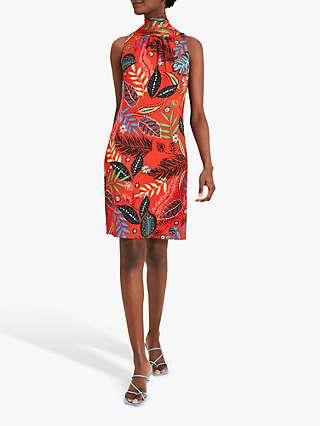 Damsel In A Dress Cicilia Tropical Print Shift Dress, Red/Multi