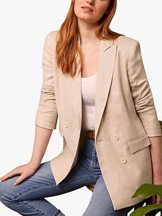 Baukjen Lennox Linen Blend Jacket, Natural