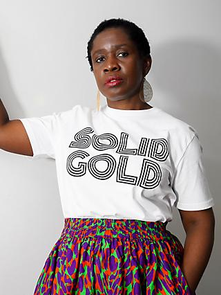 Kemi Telford Organic Cotton Solid Gold Tee