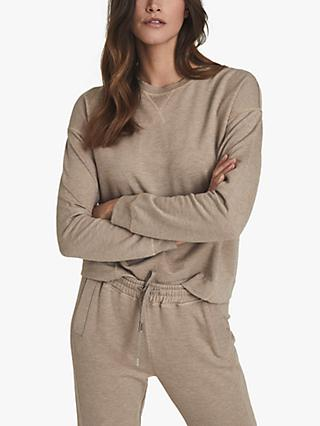 Reiss Piper Brushed Loungewear Sweatshirt