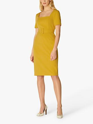 L.K.Bennett Leonora Belted Shift Dress, Yellow