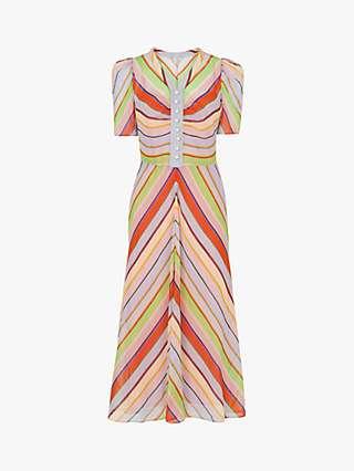 L.K.Bennett x Royal Ascot Holzer Stripe Silk Dress, Multi