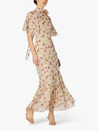 L.K.Bennett Margot Daisy Print Maxi Dress, Cream