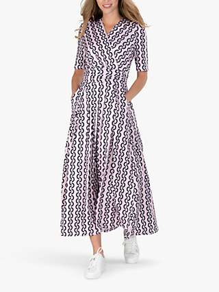Jolie Moi Geometric Print Maxi Dress, Pink