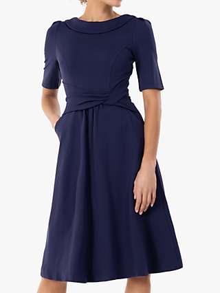 Jolie Moi Aleece Twist Waist Ponte Dress