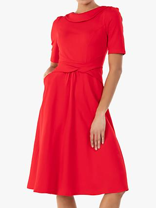Jolie Moi Aleece Twist Waist Ponte Dress