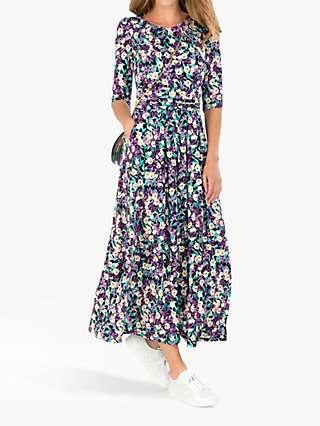 Jolie Moi Pauline Floral Print Maxi Dress, Purple