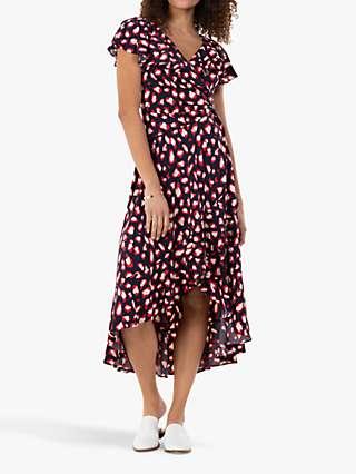 Jolie Moi Sylvie Abstract Animal Print Midi Dress
