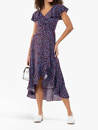 Jolie Moi Sylvie Abstract Animal Print Midi Dress