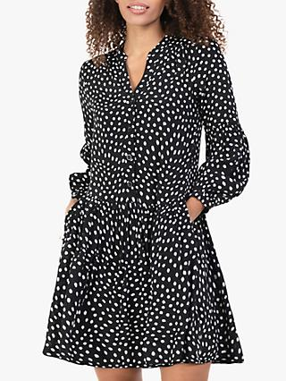 Jolie Moi Penele Spot Print Mini Dress, Black