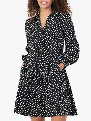 Jolie Moi Penele Spot Print Mini Dress, Black