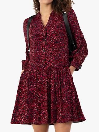 Jolie Moi Penele Animal Print Mini Dress, Red