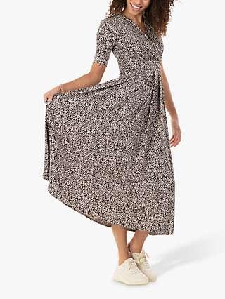 Jolie Moi Beatrice Animal Print Maxi Dress