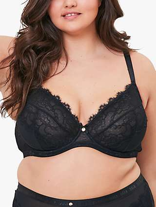 Oola Lingerie Lace and Logo Underwired Bra